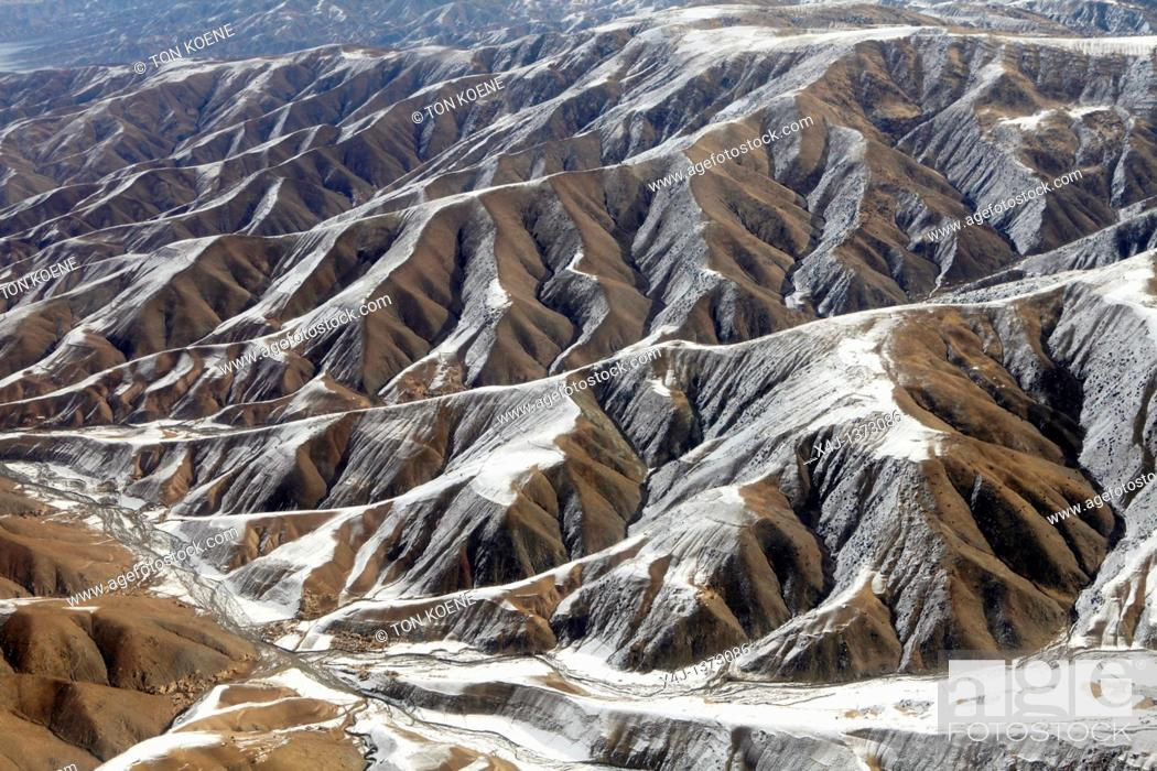 Stock Photo: aerial view of Kunduz povince, Aghanistan.