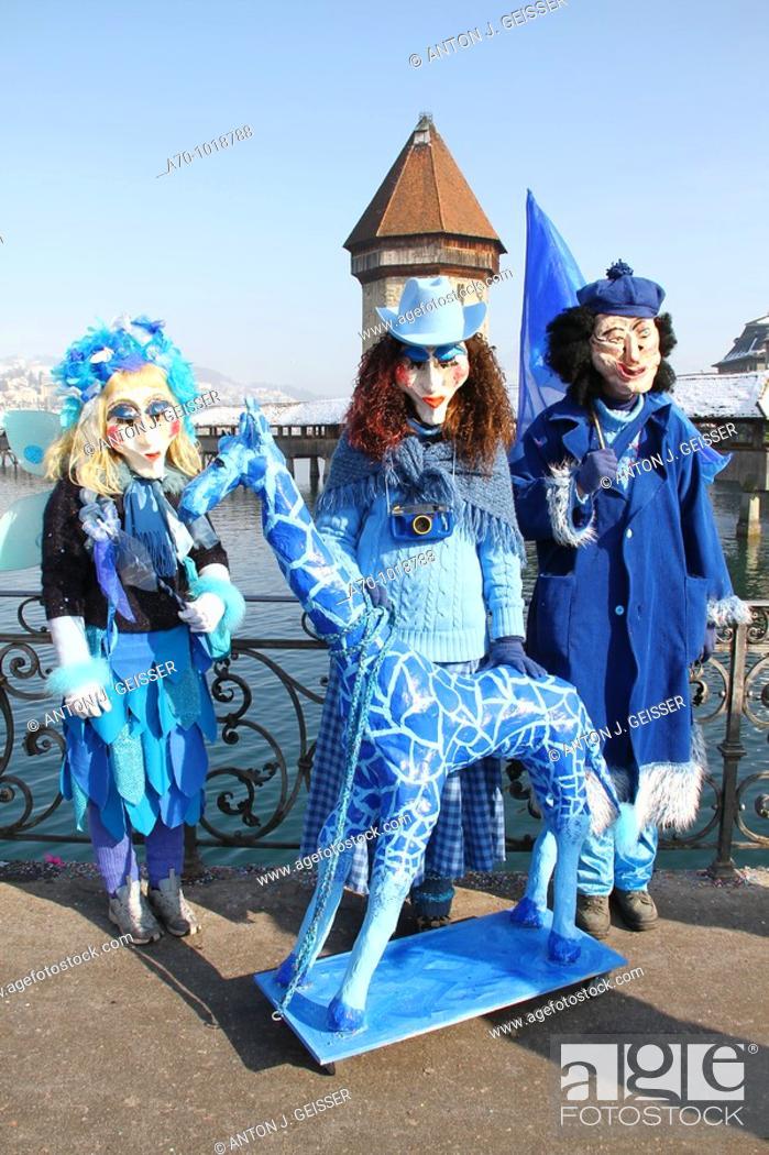 Stock Photo: Carnival Lucerne Switzerland.