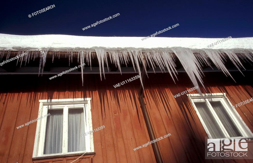 Stock Photo: cabin, CLOSE, close-up, closed, cold, cottage.