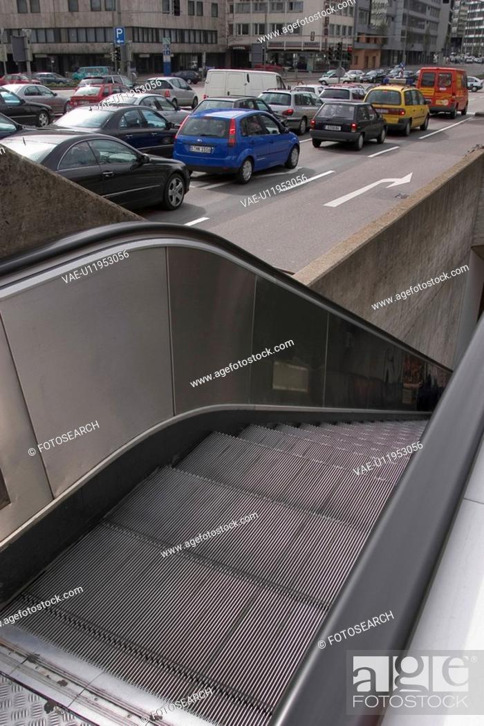 Stock Photo: moving, escalator, modern, architecture, design, style.