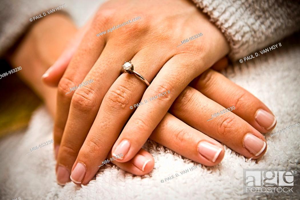 Stock Photo: Engagement ring.