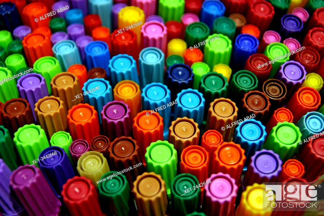 Stock Photo: Colored marker pens.