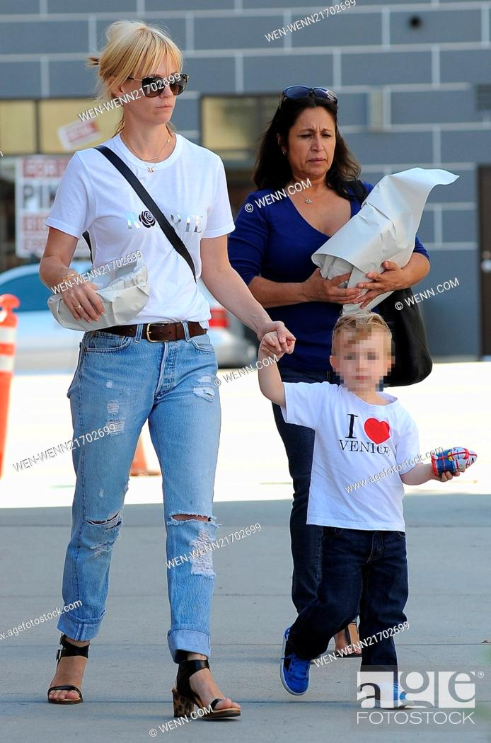 January Jones and son Xander out and about in Los Angeles ...