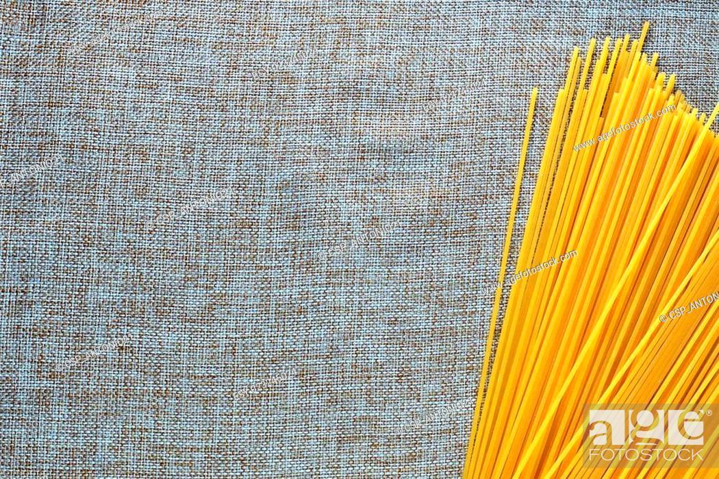 Stock Photo: types italian pasta.