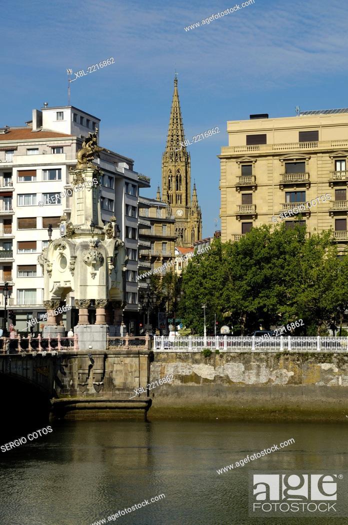 Stock Photo: View from Paseo de France San Sebastiano.