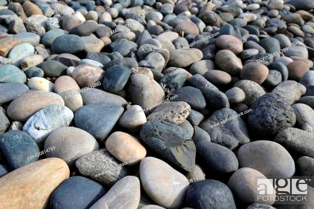 Stock Photo: River rock background.