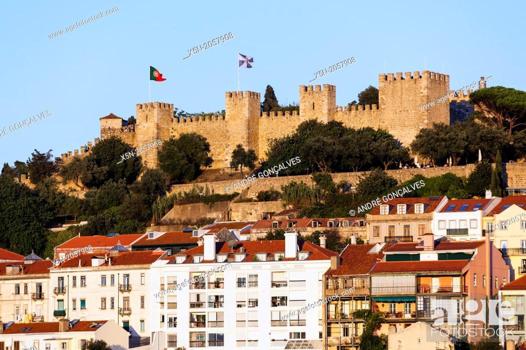 Stock Photo: S. Jorge Castle, Lisbon, Portugal, Europe.
