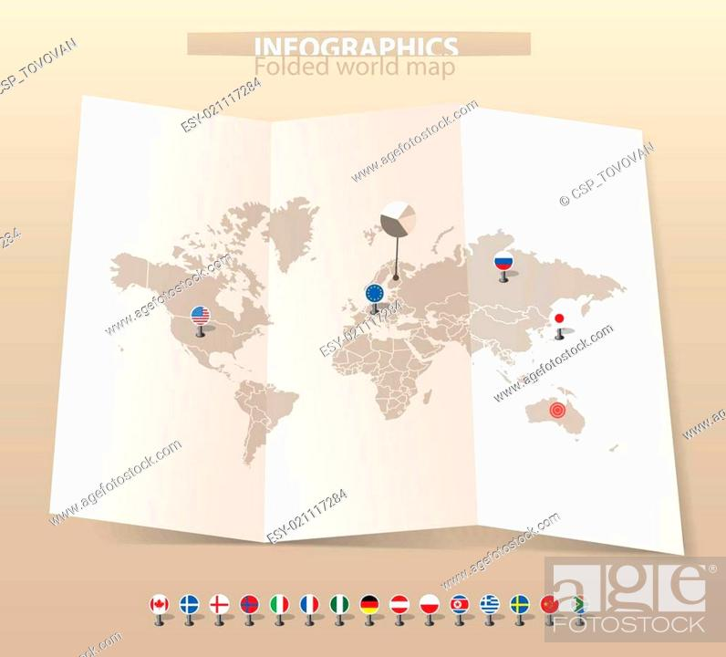 World map on old map stock vector vector and low budget royalty stock vector world map on old map gumiabroncs Image collections
