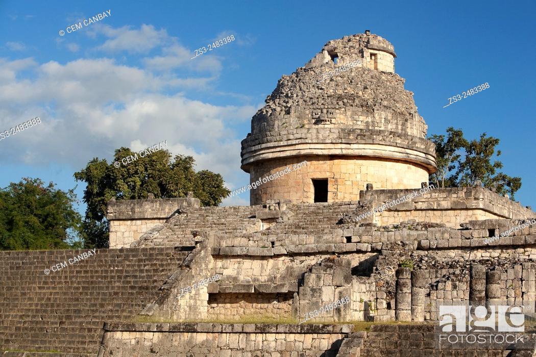 Photo de stock: El Caracol in Chichen Itza Ruins, Chichen Itza, Yucatan Province, Mexico, Central America.