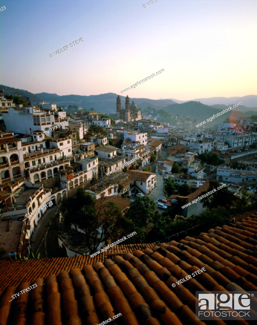 Imagen: City, Holiday, Landmark, Mexico, Rooftops, Skyline, Taxco, Tourism, Travel, Vacation,.