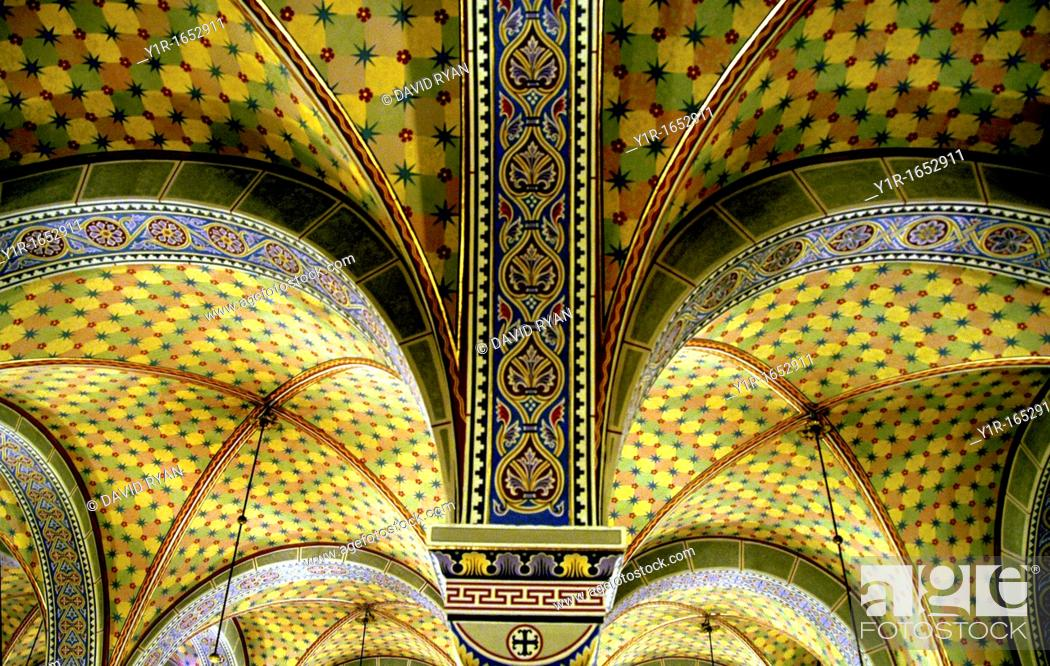 Stock Photo: Hungary, Pecs, St  Peter & Paul Cathedral 11th-12th century Vaults.