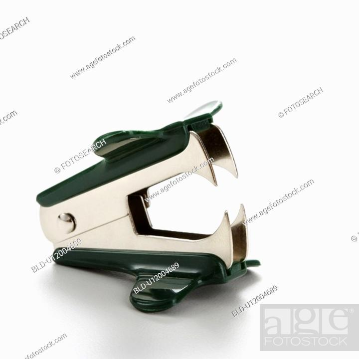Stock Photo: Staple remover on white background.