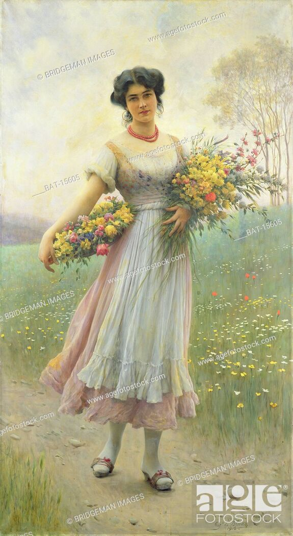 Stock Photo: Spring Flowers, Blaas, Eugen von (1843-1931) / Josef Mensing Gallery, Hamm-Rhynern, Germany / Bridgeman Images.