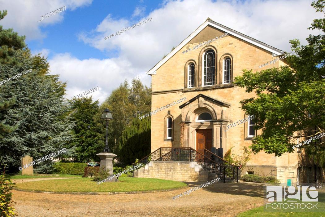 Stock Photo: Boston Spa Methodist Church, Boston Spa, West Yorkshire, England.