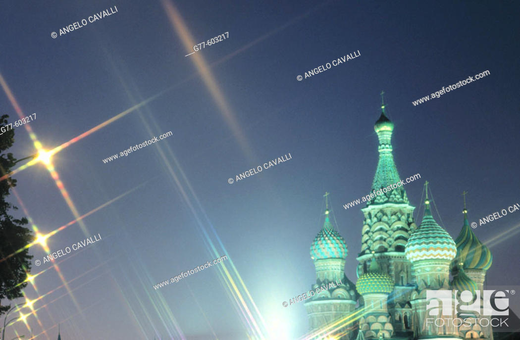 Stock Photo: St. Basil's Cathedral. Moscow. Russia.