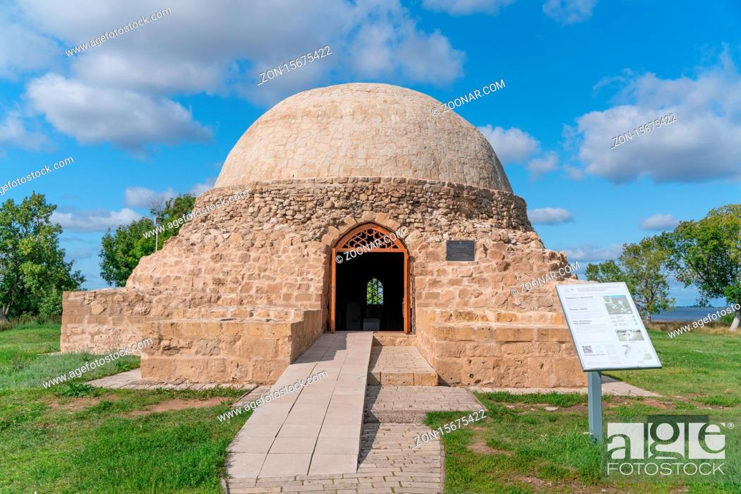 Stock Photo: Bulgar/Russia-05.07.20:The view of The Northern Mausoleum in Bulgarian State Historical and Architectural Museum-Reserve.