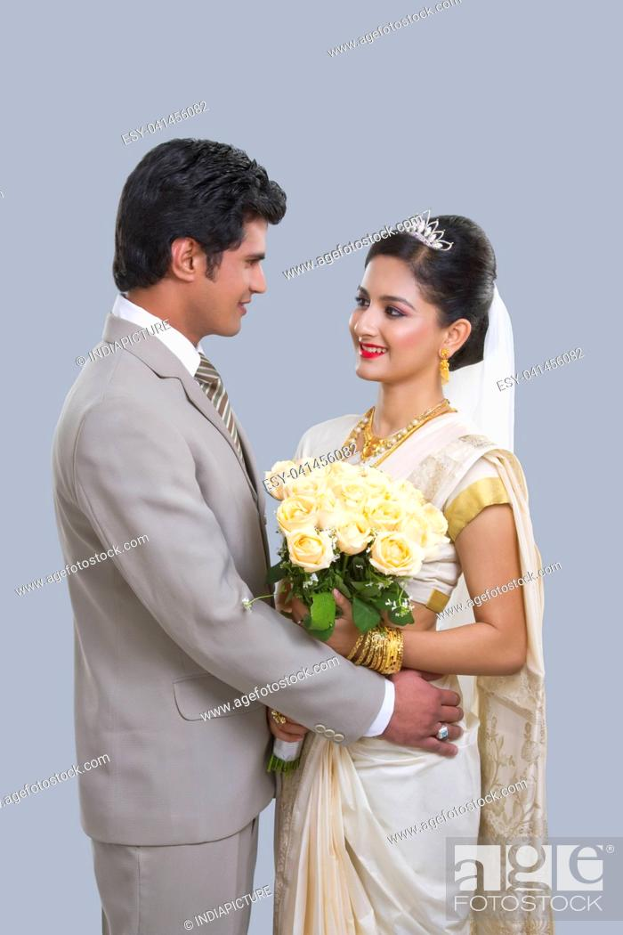 Stock Photo: Portrait of a Bride and Bridegroom.