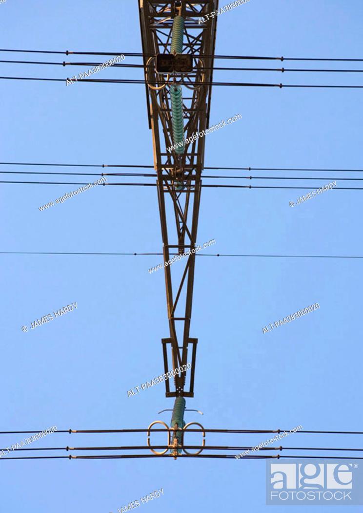 Stock Photo: Electric pylon, close-up.