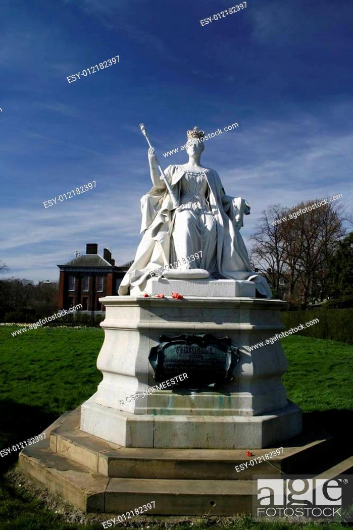 Stock Photo: Queen Victoria (young) statue.