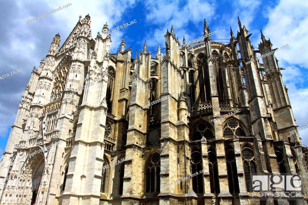 Stock Photo: The Cathedral of Saint Peter of Beauvais in Beauvais, France.