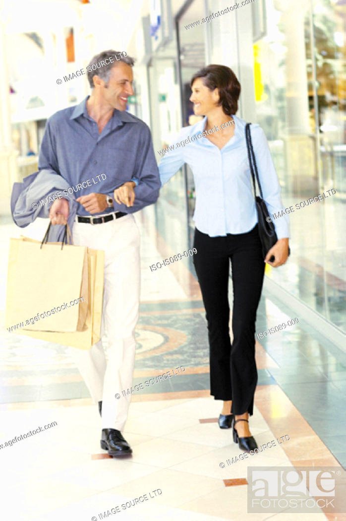 Stock Photo: Man and woman shopping.