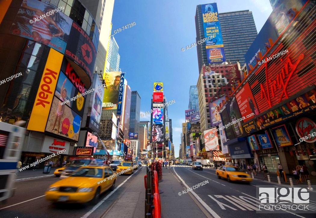 Stock Photo: USA New York City Manhattan Times Square.
