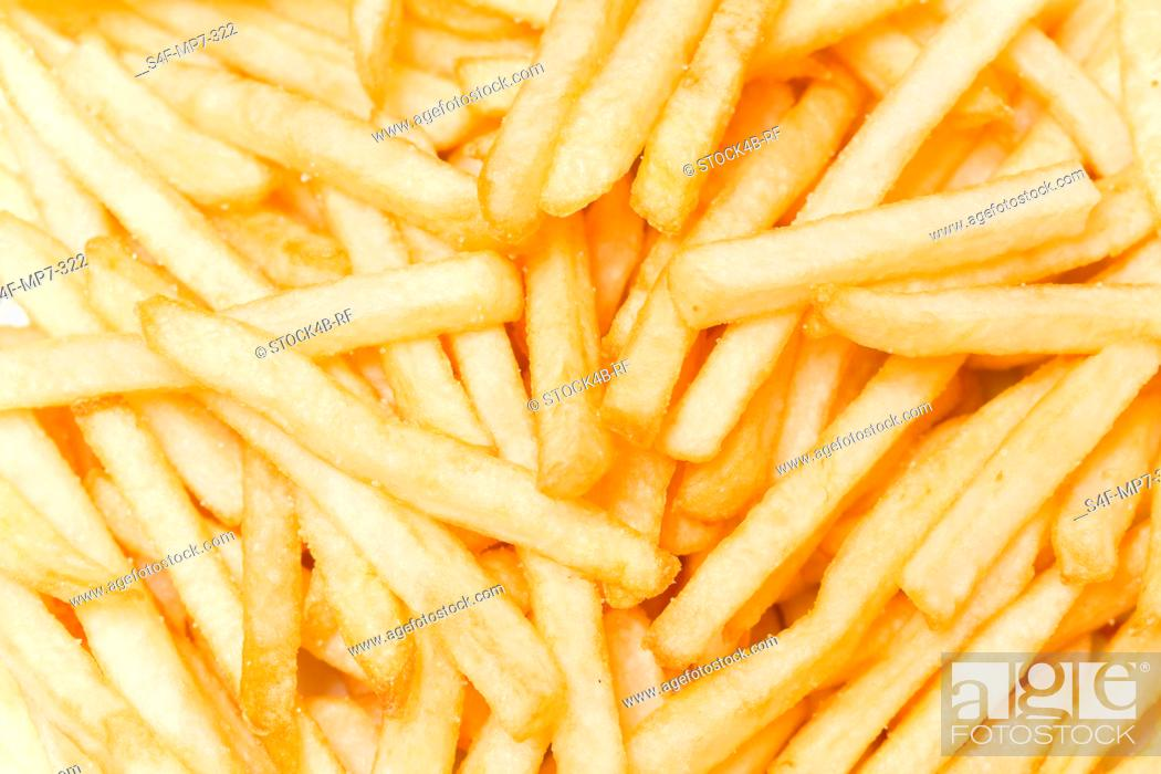 Stock Photo: Detail of French Fries.