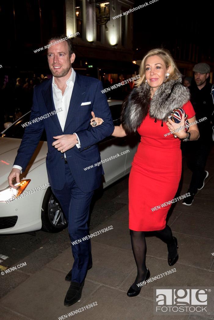 cd7d7743d Stock Photo - British Fashion Awards nominees dinner at Soho House -  Arrivals Featuring: Nadja Swarovski, Rupert Adams Where: London, United  Kingdom When: ...