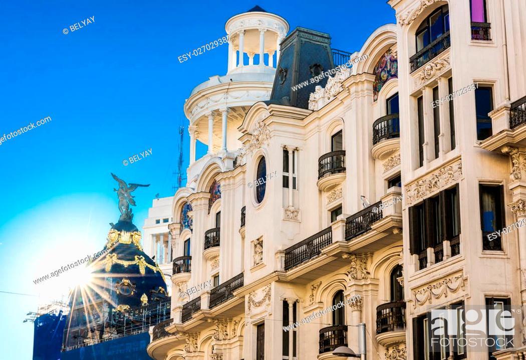 Stock Photo: Madrid city in november - shots of Spain - Travel Europe.