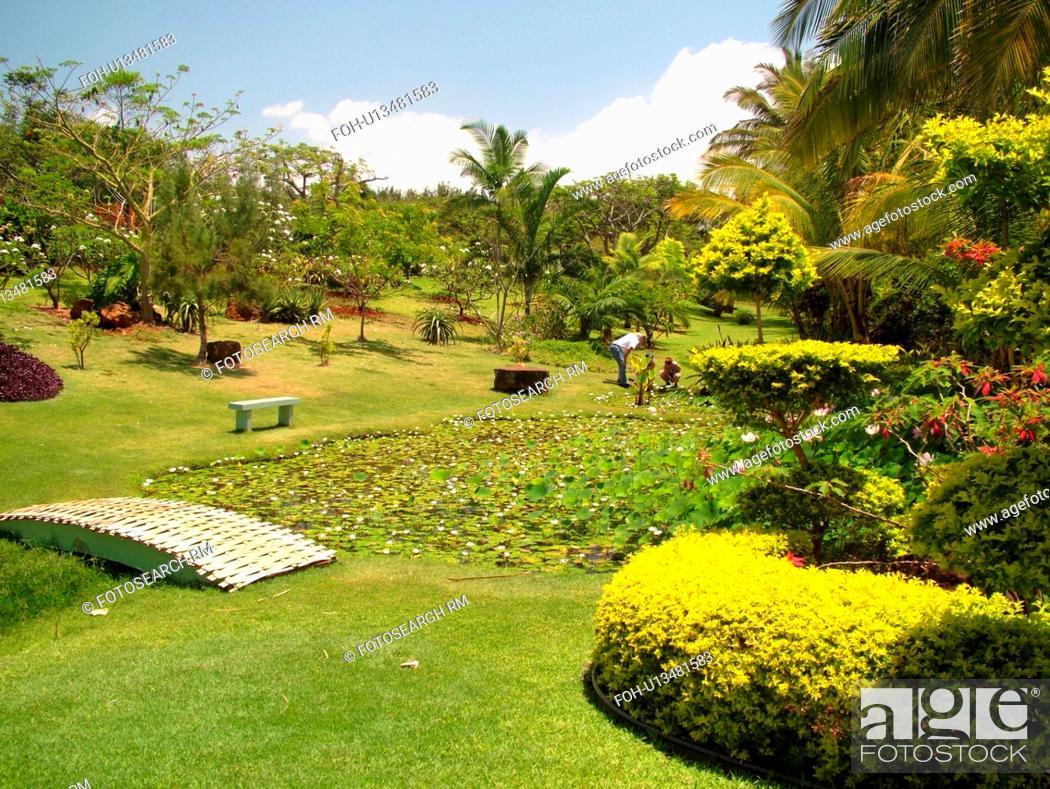 Stock Photo   Poipu, Kauai, HI, Hawaii, South Shore, Allerton Garden,  National Tropical Botanical Garden