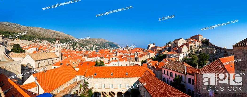 Stock Photo: Panorama of Dubrovnik in Croatia.