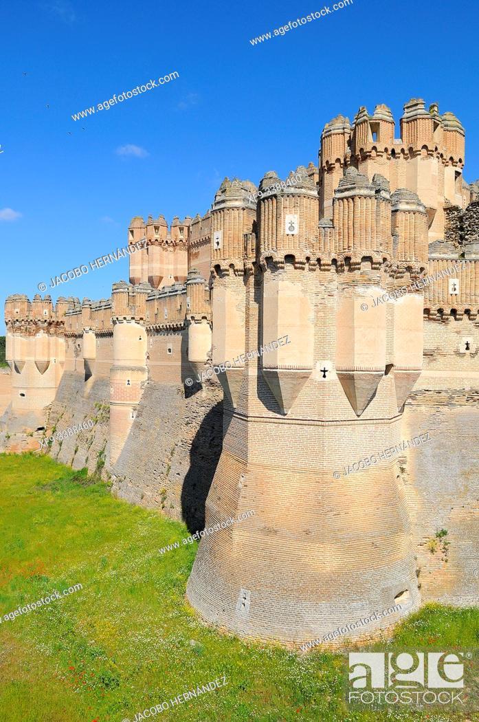 Stock Photo: Castle of Coca. Segovia province. Castilla y León. Spain.