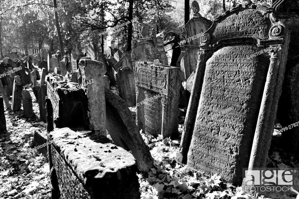 Stock Photo: Jewish cemetery in Prague.