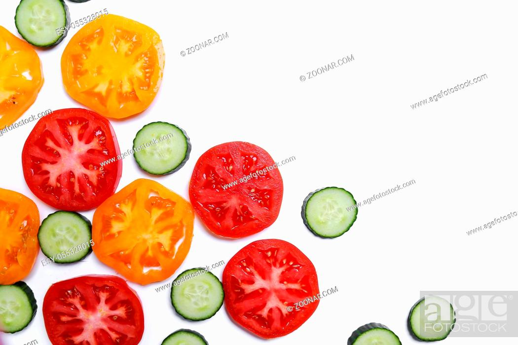 Stock Photo: Vegetables on a white background.
