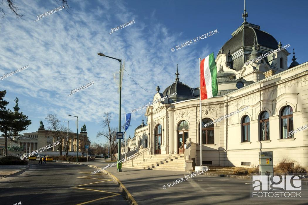 Stock Photo: City Ice Rink building in Budapest, Hungary.
