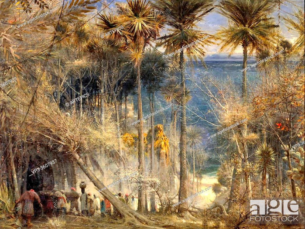 Stock Photo: Goodwin Albert - Ali Baba and the Forty Thieves - British School - 19th Century.