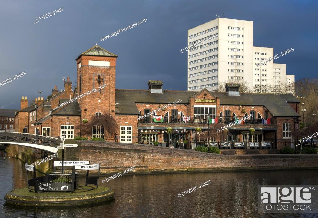 Stock Photo: Brindley Place, Birmingham, England, Europe.