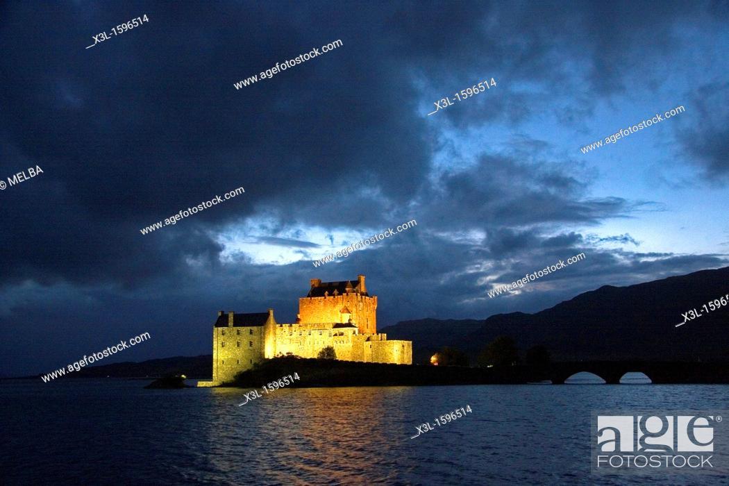 Stock Photo: Eilean Donan Castle in Scotland   Dornie  Scotland  United Kingdom.