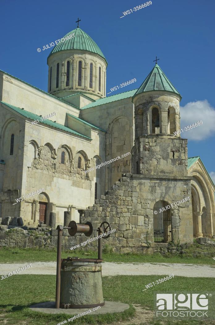 Stock Photo: Exterior of Bagrati Christian Orthodox Cathedral in Kutaisi, Georgia.