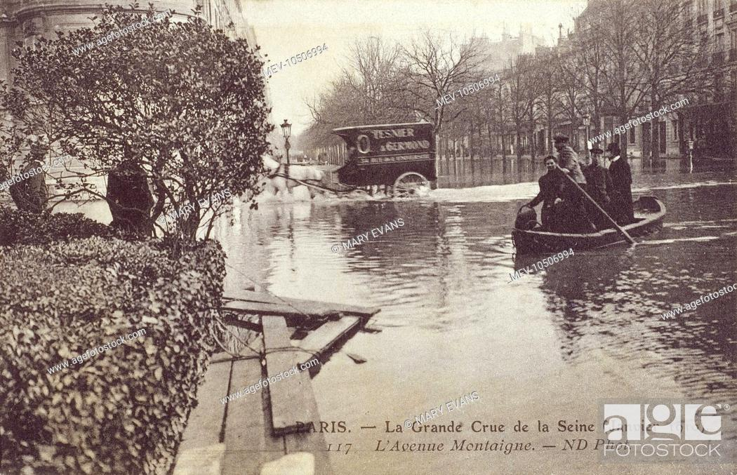 the great flood in paris january 1910 l avenue montaigne under