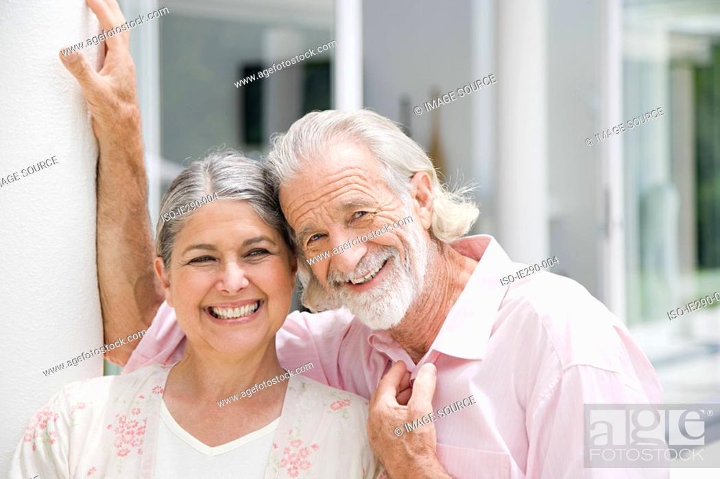 Stock Photo: Portrait of a senior couple.
