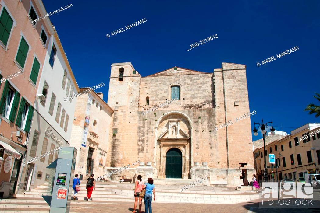 Stock Photo: El Carmen church, Mahon, Menorca.