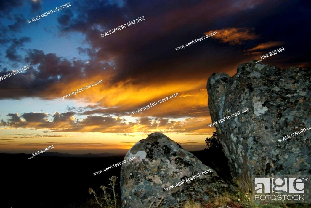 Stock Photo: Sunset.