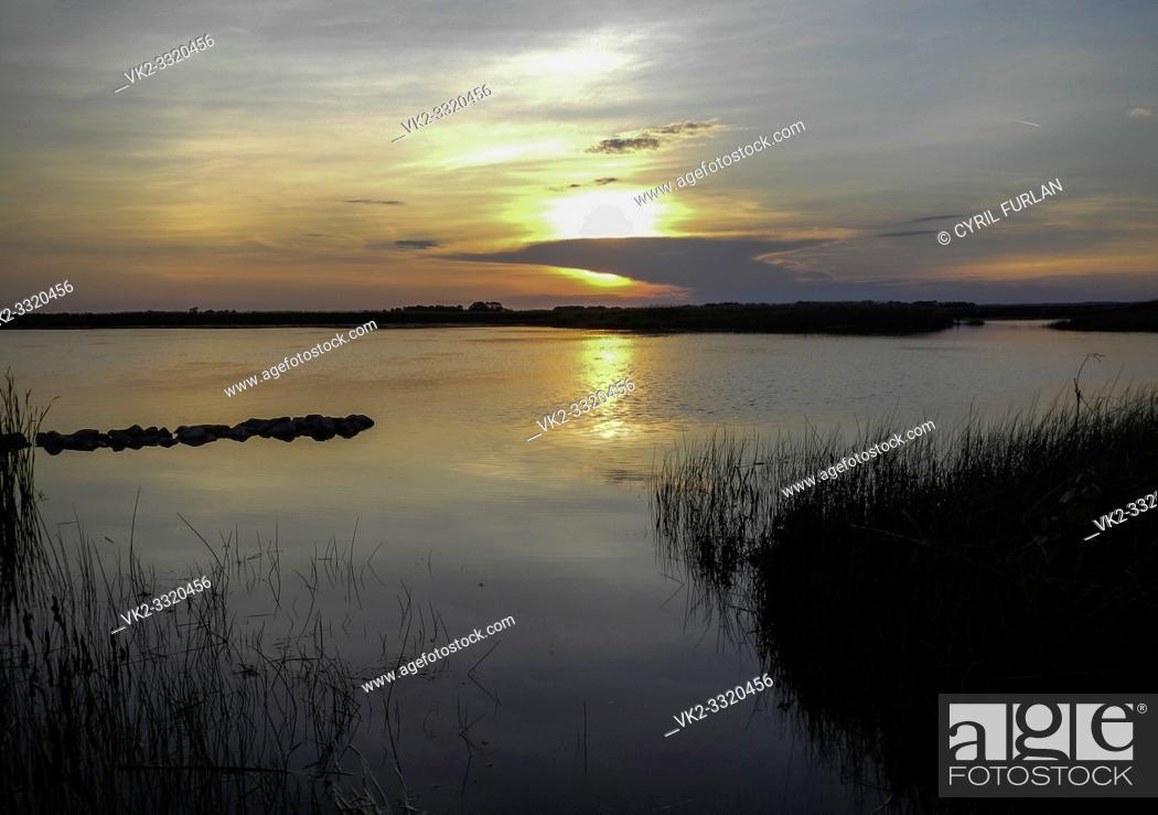 Stock Photo: Back Bay National Wildlife Refuge Virginia Beach Virginia.
