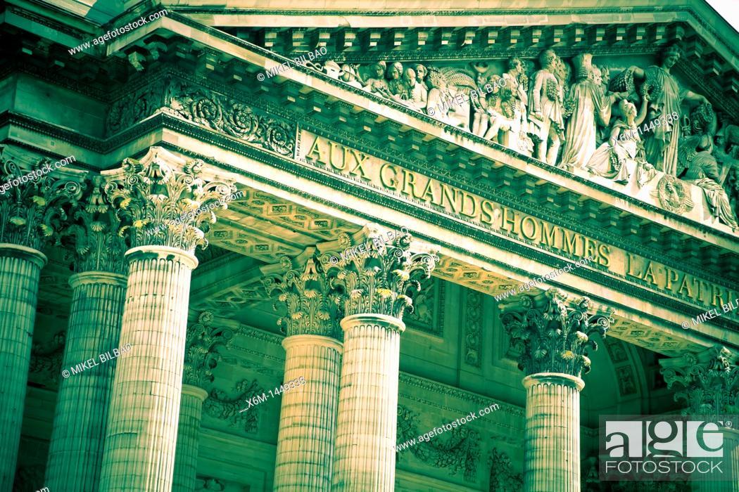 Stock Photo: The Pantheon  Latin Quarter, Paris, France, Europe.
