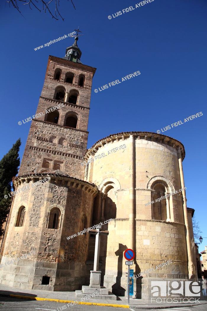 Stock Photo: Church of San Andres, Segovia, Spain.