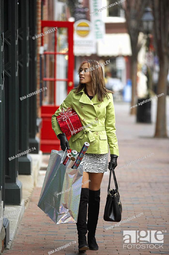 Stock Photo: Woman shopping.