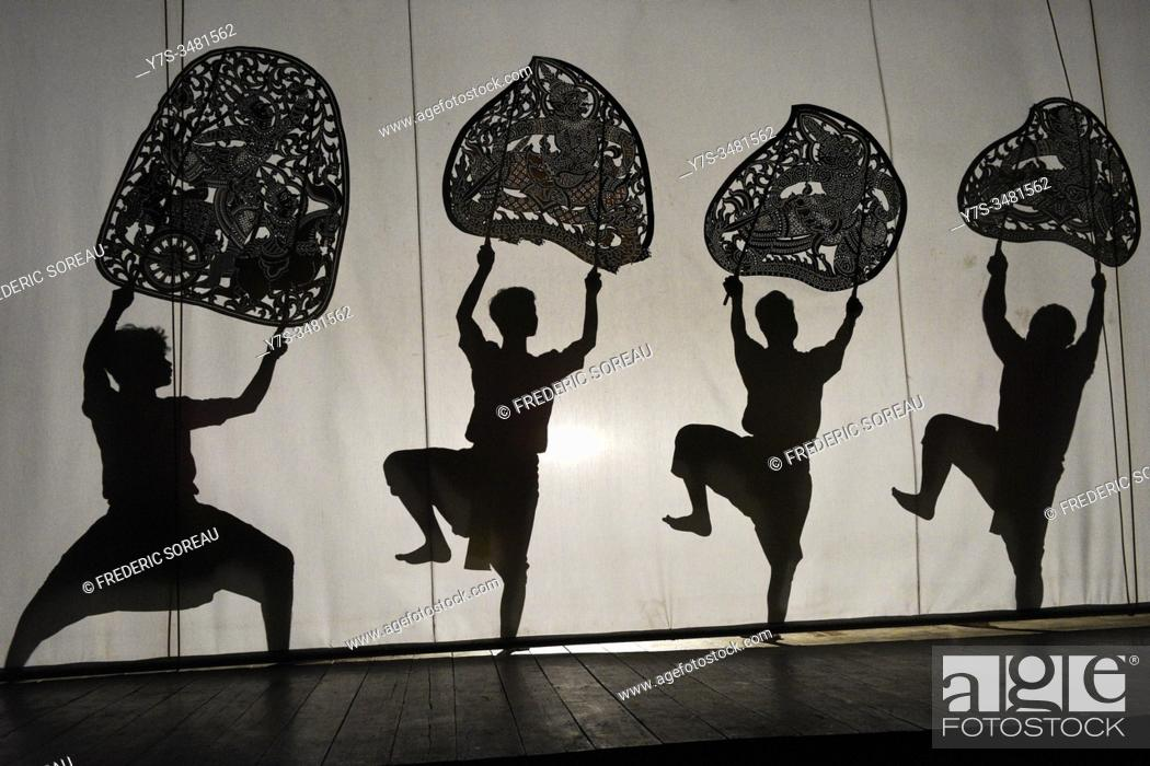 Imagen: Shadow Puppets, Sovannaphum Theater, Boeung Trabek, Phnom Penh, Cambodia, South East Asia.