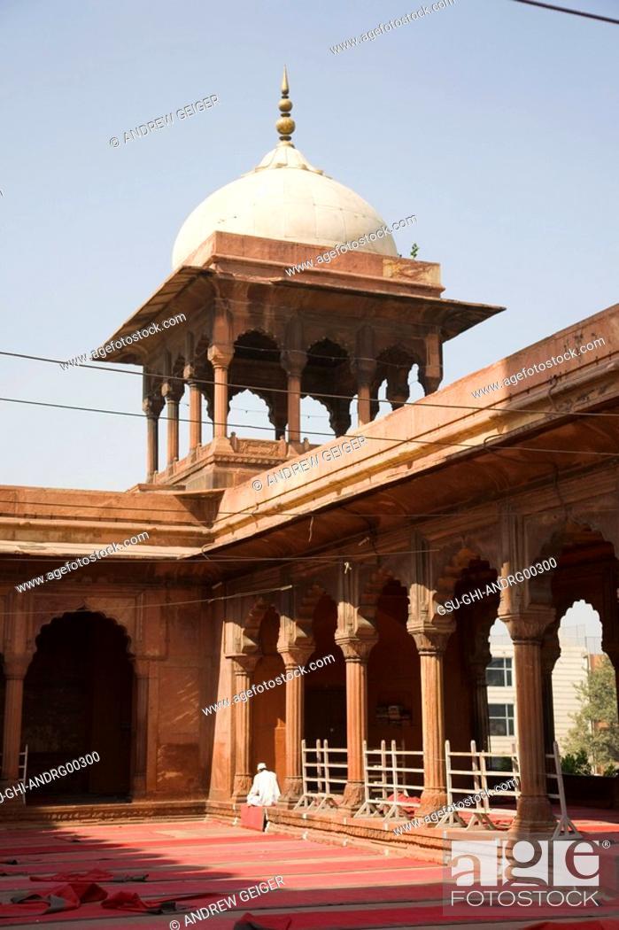 Stock Photo: Detail of Jama Masjid, New Delhi, India.