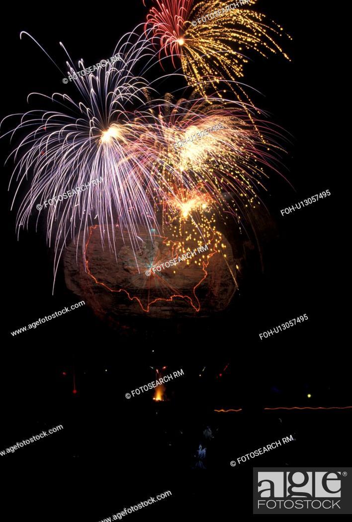 firework laser show stone mountain atlanta ga georgia stock
